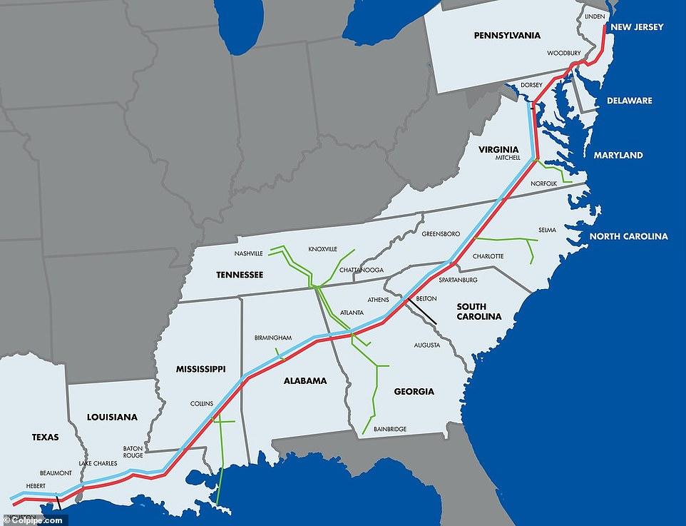 darkside colonial pipeline east coast